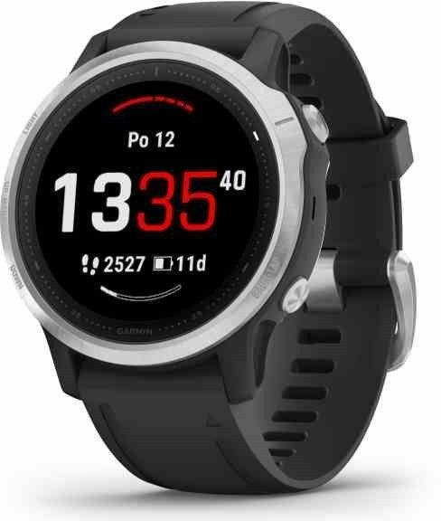 Garmin Garmin fenix6S Glass Silver/Black Band Karórák