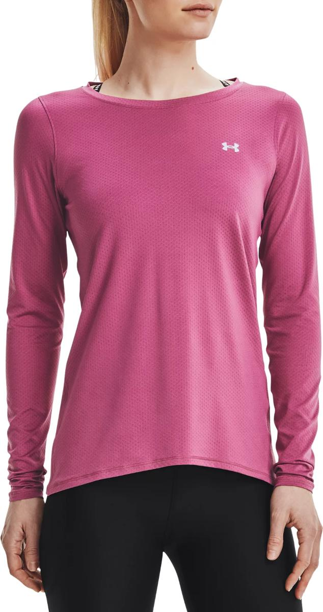 Under Armour UA HG Armour Long Sleeve-PNK Hosszú ujjú póló
